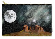 Moonrise Over Sedona Carry-all Pouch by John Lyes