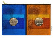 Moons On Blue And Gold Carry-all Pouch