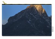 Moonset And Alpenglow Over A Snow Peak Carry-all Pouch