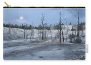 Moonset At Mammoth Terrace-yellowstone Carry-all Pouch