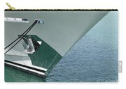 Moored Ships Bow With Retracted Anchor Abstract Carry-all Pouch