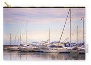 Moored Yachts. For Yachts Lovers I. Benalmadena Puerto Marina Carry-all Pouch