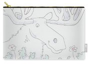 Moose Cartoon Carry-all Pouch