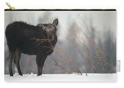Moose Cow Feeding On Willow Idaho Carry-all Pouch