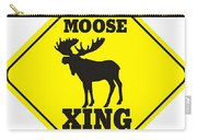 Moose Crossing Sign Carry-all Pouch