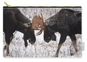 Moose Fighting, Gaspesie National Park Carry-all Pouch