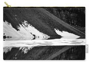 Moraine Lake Abstract - Black And White #2 Carry-all Pouch