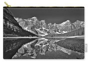 Moraine Lake - Black And White Carry-all Pouch