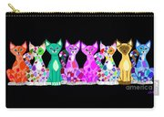 More Colorful Kitties Carry-all Pouch