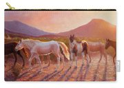 More Than Light Arizona Sunset And Wild Horses Carry-all Pouch