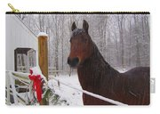 Morgan Horse Christmas Carry-all Pouch by Elizabeth Dow
