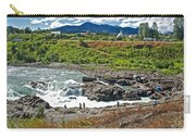 Moricetown Falls And Canyon Fishing Operation On The Bulkley River In Moricetwown-british Columbia  Carry-all Pouch