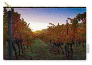 Morning At The Vineyard Carry-all Pouch by Bill Gallagher