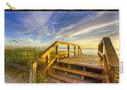 Morning Beach Walk Carry-all Pouch by Debra and Dave Vanderlaan