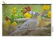 Morning Dove With Pansies Carry-all Pouch