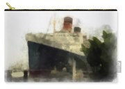 Morning Fog Queen Mary Ocean Liner 01 Photo Art 01 Carry-all Pouch