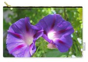 Morning Glory Couple Or 2 Purple Ipomeas Carry-all Pouch