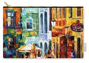 Morning Gossip - Palette Knife Oil Painting On Canvas By Leonid Afremov Carry-all Pouch