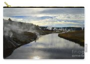 Morning In Upper Geyser Basin In Yellowstone National Park Carry-all Pouch