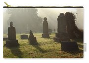 Morning Mist At The Cemetery Carry-all Pouch