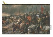 Morning Of The Battle Of Agincourt, 25th October 1415, 1884 Oil On Canvas Carry-all Pouch