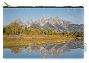 Morning Reflection Of The Teton Range Carry-all Pouch