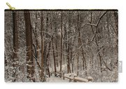 Morning Snow Path Carry-all Pouch