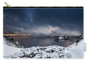 Morning Storm At Crater Lake Carry-all Pouch