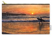 Morning Surf Carry-all Pouch by Debra and Dave Vanderlaan