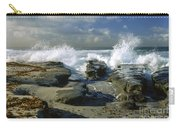 Morning Tide In La Jolla Carry-all Pouch by Sandra Bronstein