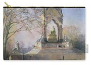 Morning Visitors To The Albert Memorial Oil On Canvas Carry-all Pouch