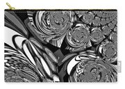 Moroccan Lights - Black And White Carry-all Pouch