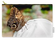 Morphos Butterfly On White Baseball Cap Art Prints Carry-all Pouch