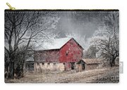 Morris County Red Barn In Snow Carry-all Pouch