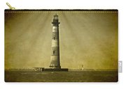 Morris Island Light Vintage Bw Uncropped Carry-all Pouch