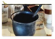 Mortar And Pestle Near Medicine Bottles Carry-all Pouch