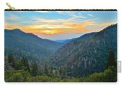 Mortons Overlook Smoky Mountain Sunset Carry-all Pouch