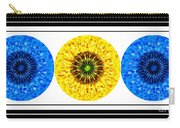 Mosaic Blue Circles With Yellow Carry-all Pouch