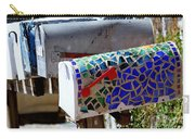 Mosaic Mailbox On The Turquoise Trail In New Mexico Carry-all Pouch