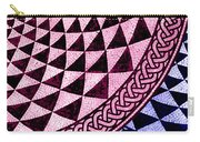 Mosaic Quarter Circle Bottom Right  Carry-all Pouch