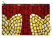 Mosaic Red Cross Carry-all Pouch by Cynthia Amaral