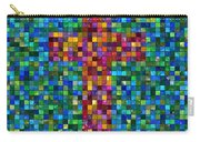 Mosaic Tile Cross Carry-all Pouch