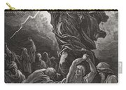 Moses Breaking The Tablets Of The Law Carry-all Pouch by Gustave Dore