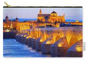 Mosque-cathedral And The Roman Bridge In Cordoba Carry-all Pouch