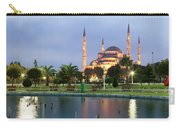 Mosque Lit Up At Dusk, Blue Mosque Carry-all Pouch
