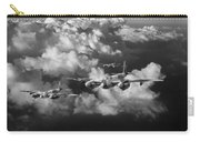 Mosquitos Above Clouds Black And White Version Carry-all Pouch