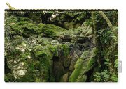 Moss And Stones By The Turquoise Forest Pond On A Summer Day No4 Carry-all Pouch