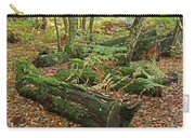 Moss Covered Logs On The Forest Floor Carry-all Pouch