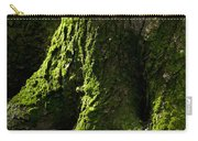 Moss Covered Tree Trunk Carry-all Pouch by Christina Rollo