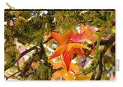 Mossy Lichen Tree Leaves Art Prints Autumn Carry-all Pouch